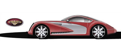 Duesenberg Torpedo Coupe rendering by Jeff Teague