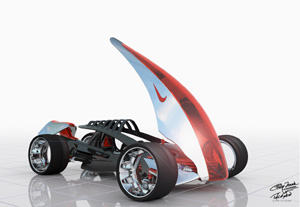 Nike ONE future concept car open