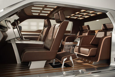Ford F-250 Super Chief concept truck interior