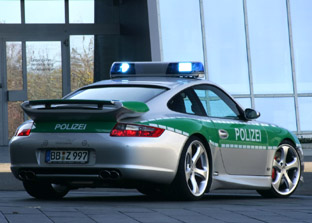 Techart Porsche 911 Police car rear