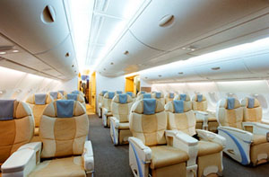 Airbus A380 business class interior