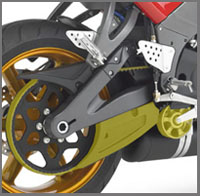 Buell belt with tensioner