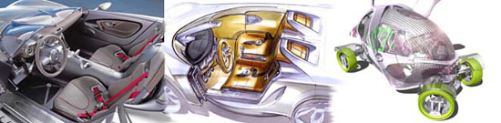 Concept cars and sketches
