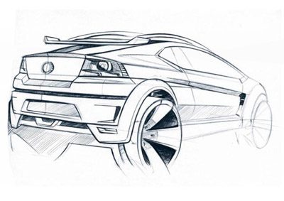 Fiat FCC Adventure crossover concept sketch