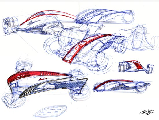 Nike ONE future concept car sketches