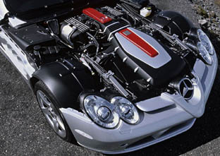 Mercedes Mclaren SLR engine