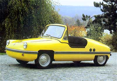 German Micro Car http://www.diseno-art.com/encyclopedia/strange_vehicles/spatz_microcar.html