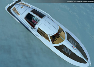 1963 Corvette inspired speed boat by 