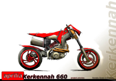 Aprilia Kerkennah concept motorbike