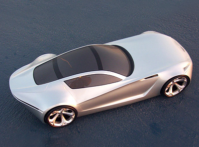 Aston Martin DB-ONE Concept car top view
