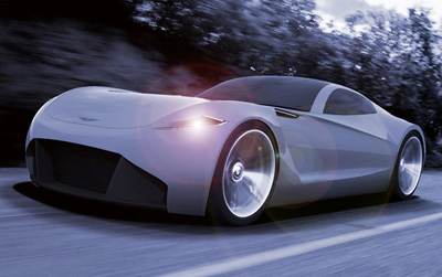Aston Martin DB-ONE Concept car driving