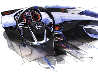 Opel Flextreme concept car interior