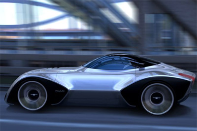 Paulin VR Concept sports car for 2012