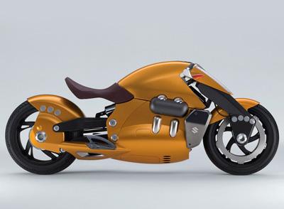 Suzuki Biplane concept motorbike