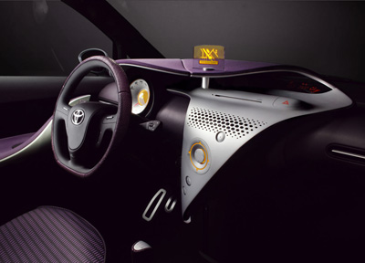 Toyota IQ concept car interior