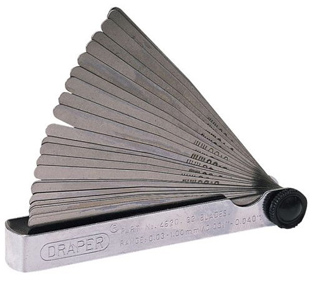 Draper 32 blade dual reading combination feeler gauge