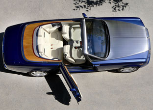 2008 Rolls-Royce Phantom Drophead Coupe above view
