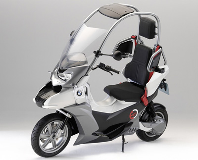 Electric Scooter on Bmw C1 E Enclosed Electric Scooter