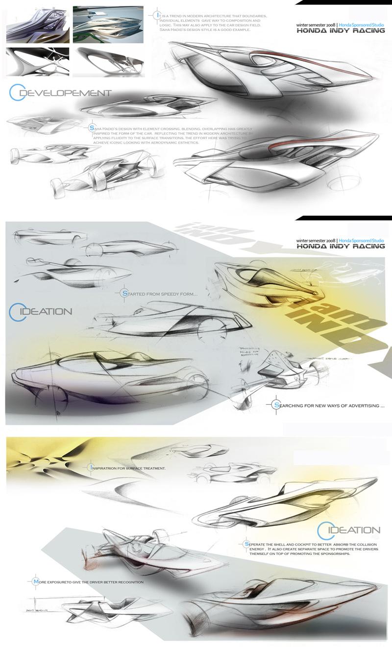 Honda Indy Racing Car Concept Cars Diseno Art