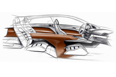 Mercedes-Benz ConceptFASCINATION interior sketch