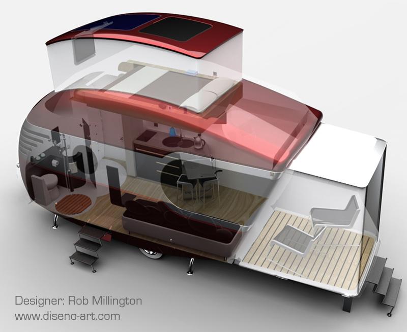 Mo tel caravan concept cars diseno art - Interior caravana ...