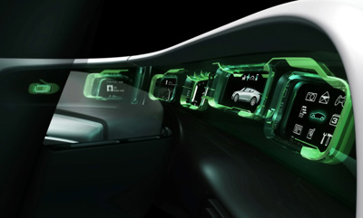 Saab 9-X Air concept car dashboard