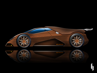 Splinter wooden supercar