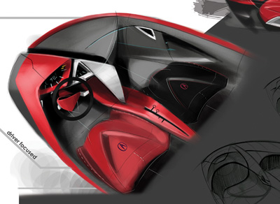 Acura Stealth concept car interior