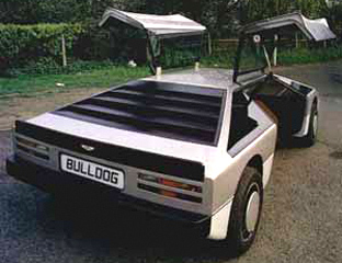 1980 Aston Martin Bulldog concept car rear view