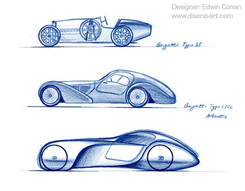 Bugatti Type 57 Evoluzione Concept Cars Diseno Art