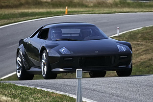 new 2010 Lancia Stratos on the racetrack