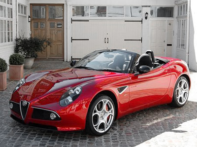 Alfa Romeo 8c Spider Sports Cars