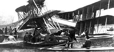 Caproni Ca 60 after crash