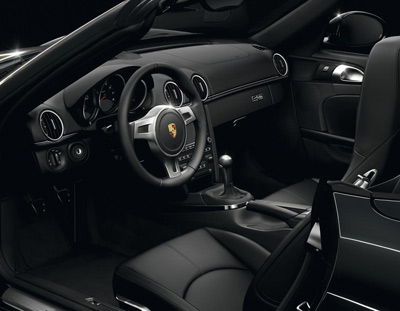 Porsche Boxster S Black Edition interior