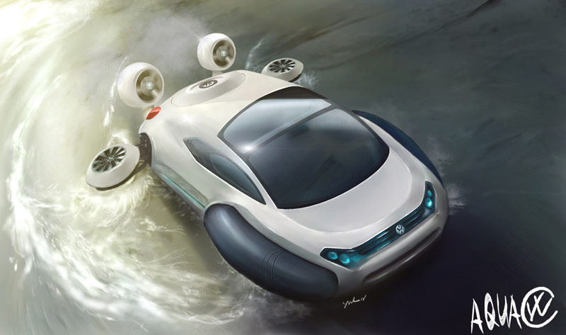 Volkswagen Aqua Strange Vehicles Diseno Art