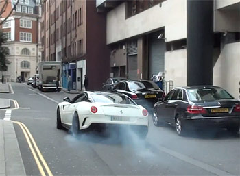 Ferrari 599 GTO burnout