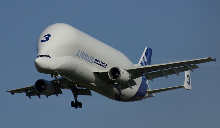 Airbus Beluga transport aircraft