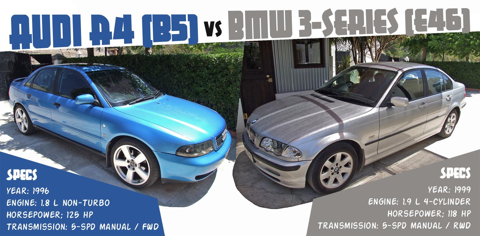 BMW Series E Vs Audi A B Buyers Guide Disenoartcom - Bmw 328i vs audi a4