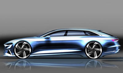 Audi Prologue Avant concept car side view