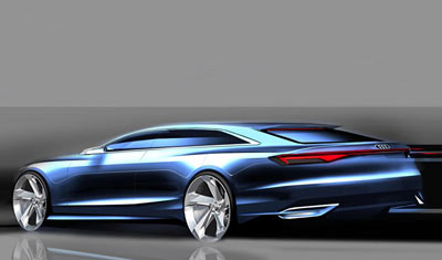Audi Prologue Avant concept car rear view