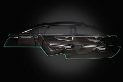 Audi Prologue Avant concept car cabin layout