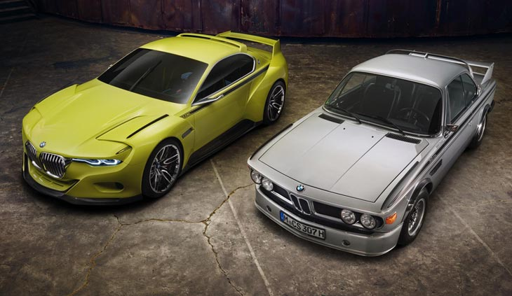 BMW 3.0 CSL Hommage Concept and original 3.0 CSL