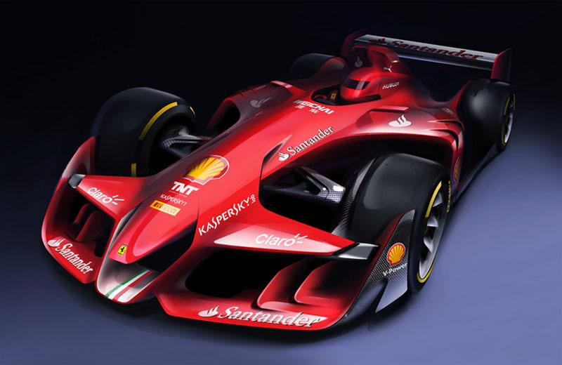 Ferrari Future F1 Car Concept Cars Diseno Art