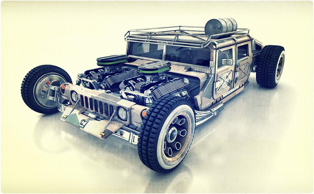 HummRod Humvee Hot Rod   Concept Cars   Diseno-Art