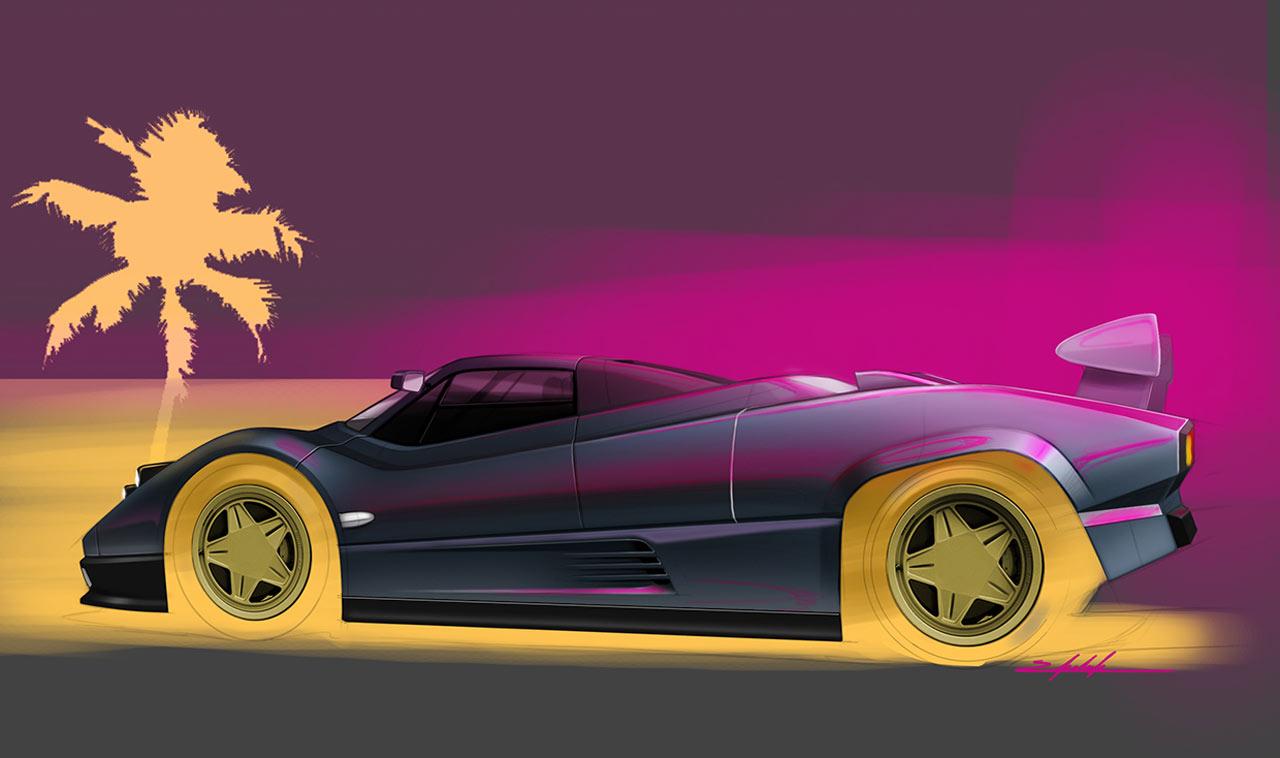Retro Pagani Zonda 1983 Concept Concept Cars Diseno Art