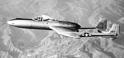 Vultee XP-54 prototype aircraft