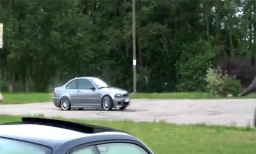Granny drifting a car