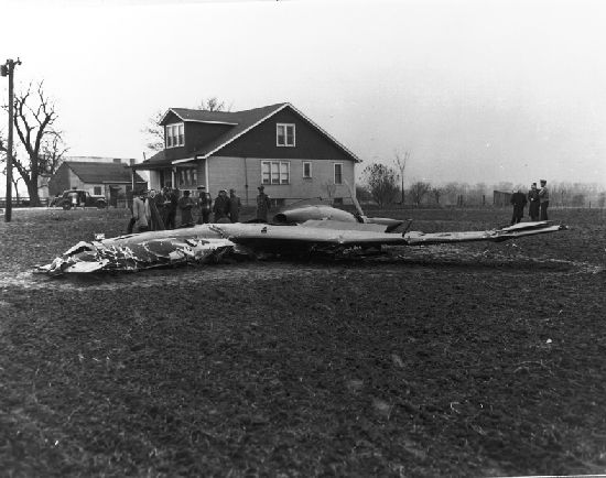 Curtiss-Wright XP-55 Ascender crash