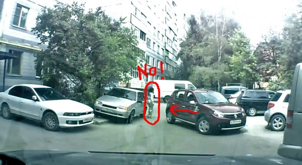 parking accident in Russia