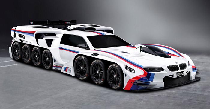 BMW 42-wheel concept car